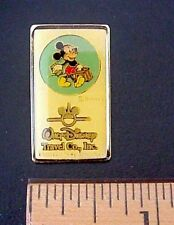 WALT DISNEY TRAVEL CO.INC MICKEY MOUSE W/SUITCASE MADE IN TAIWAN PIN