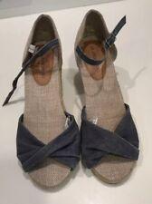 Cherokee  Blue Denim  Wedges Sandals  Size 37  NNT