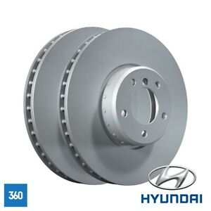 NEW GENUINE HYUNDAI i40 300MM REAR BRAKE DISC PAIR SET 584113Z700