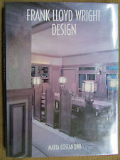 FRANK LLOYD WRIGHT DESIGN Maria Costantino 1995 Large Hardcover Color Book