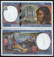 CENTRAL AFRICAN STATE GABON 10000 10,000 Francs P405L 1998 SHIP UNC BANK NOTE