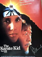 RARE KARATE KID PART III 3 MOVIE POSTER 27x40 Hand Signed by PAT MORITA MIYAGI