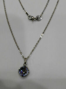 Brosway, Collar Mujer con Colgante Cristal Violeta 43CM, (BTJV02 ), Nueva