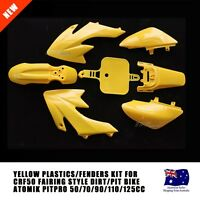 Yellow Plastics Guard Fairing Fender Kit CRF50 Style 125cc PITPRO Pit Dirt Bike