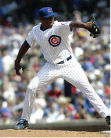 8x10 photo, Baseball, Carlos Marmol #1, Chicago Cubs, white jersey, game action