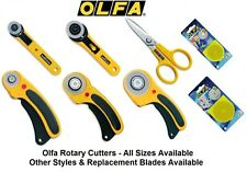 OLFA Rotary Cutters & Spares for Crafts, Scrapbooking, Quilting, Card Making