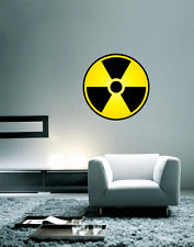 "Nuclear Radiation Warning Sign Wall Decal Large Vinyl Sticker 23"" x 23"""