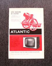 M117- Advertising Pubblicità -1960- ATLANTIC TELEVISORE MODELLO 519