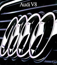 1989 AUDI V8 SEDAN FACTORY BROCHURE-AUDI V8 SEDAN