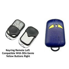Automatic Gate Remote Control Copies DEA Genie 263 Yellow Button Keyring Size
