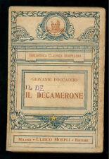 BOCCACCIO GIOVANNI IL DECAMERONE CURA MICHELE SCHERILLO HOEPLI 1924