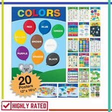 Educational Poster English Spanish Kids Nursery Learning Global Printed Products