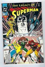 The Legacy of Superman #1 (1993 DC Comics) Dual Signatures *High Grade copy.