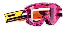 Progrip 3450 Motocross Light sensitive lens Goggles Pink -Black Frame