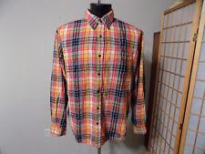 Men's ST. JOHN'S BAY XL L/S Button Down Legacy Flannel Shirt Multi Color Plaid