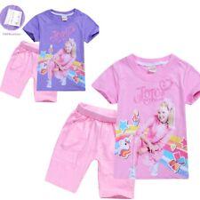 JOJO SIWA Girls t-shirt and pants shorts pyjama pjs outfit size 4 -10 Au stock