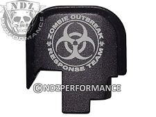 For Smith Wesson S&W SHIELD 9 40 Rear Slide Back plate BLK Zombie Response 2