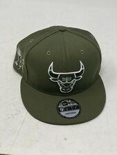 New Era 9Fifty Olive Green Chicago Bulls 6X CHAMPS SnapBack Adjustable Hat