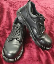 Capps Work Shoes Steel Toe UK 12 EU 47 Black Leather Rugged Tough Lace Up
