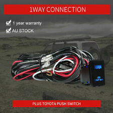 30A Wiring Loom Harness Relay Fuse Kit with Push Switch LED Light Bar For Toyota