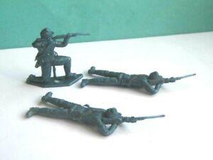 3 x MPC. 1970's  ACW UNION CAVALRY PLASTIC SOLDIERS. 1/32 SCALE..