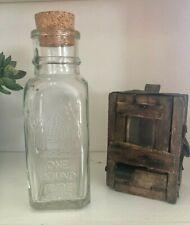 Beekeepers Primitive Wooden Queen Bee Carriertransport Box Amp Honey Bottlejar