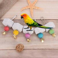 Pet birds parrot mouth grinding stone molars stone hanging string chewing toy SK