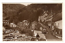 Mars Hill & Harbour - Lynmouth Photo Postcard c1940s