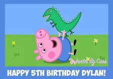 PEPPA PIG PEPPA GEORGE A4 EDIBLE IMAGE CAKE TOPPER BIRTHDAY PARTY KIDS