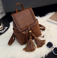Womens Backpack Shoulder Bags PU Leather Vintage College Style Travel