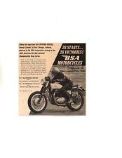 1967 BSA SPITFIRE MOTORCYCLE / HENRY KIJEWSKI ~ ORIGINAL SMALLER PRINT AD