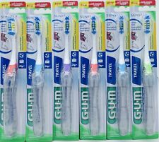 6pk GUM Folding Travel Toothbrush Soft Bristle ~ NEW ~ FREE SHIPPING - g8