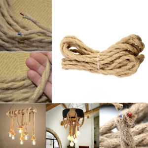 Vintage Braided Rope Wire Electrical Cable for Edison Pendant Lamp Fitting Rope