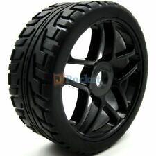 4pcs NEW 1/8 RC Rubber Tires w/ Hex 17mm Wheels Rims For RC On-Road Buggy Car