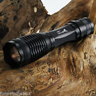 2200LM CREE XM-L T6 LED Flashlight Focus Torch light +2x 18650 Batteries+Charger