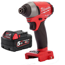 "Milwaukee 18V Fuel M18 Brushles 1/4"" Hex Impact Driver 5AH Battery - AU Model"
