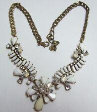 & Milk Glass Necklace Ann Taylor Loft Rhinestone