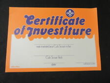Cub Scout Certificate of Investiture, Lot of 18   eb18