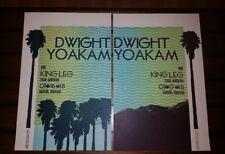 DWIGHT YOAKAM x2 Ryman HATCH SHOW PRINT Nashville 2018 Tour Poster Limited Set