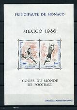 Monaco, 1986r. Mi 1754--1755, w bloku Mi 33, Piłka nożna