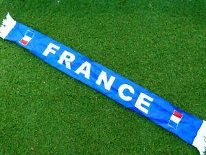 Echarpe scarf satin FRANCE FFF signée signed MOUSSA SISSOKO ultra foot