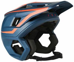 Fox Racing Dropframe Pro Helmet - Blue/Orange Medium