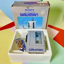 Retro Boxed 1980s SONY STEREO WALKMAN WM-4  STEREO CASSETTE PLAYER Refurbished
