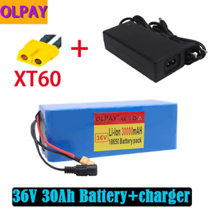 E-bike Li-ion Battery 36v 30ah Volt Rechargeable Bicycle Electric+charger