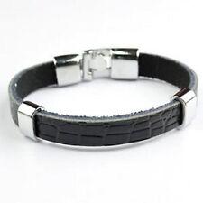 Modeschmuck-Armbänder im Armreif-Stil aus Leder ohne Stein