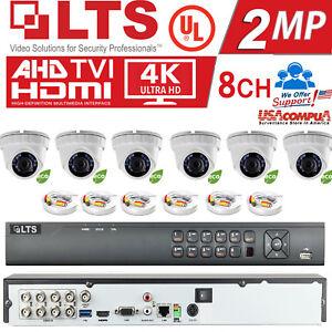 LTS KIT 8CH 2-4MP HD-TVI / H.265/H.265+ / 1080P 6(2MP) Turret Cameras / 2TB HDD