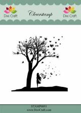 New Dixi Craft Clear Stamp  Tree With Girl