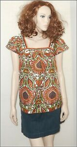 Milly Of New York Women's Cap Sleeve  Blouse Top size UK 8/10  EUR 36/38