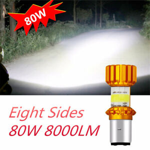 Moto Light Scooter Accessoire Motobike Head Lamp High/Low Beam 8Side Bright 360°