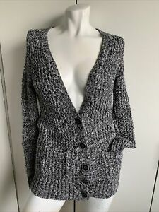Womens XS American Eagle chunky knit cardigan sweater long sleeve front pockets